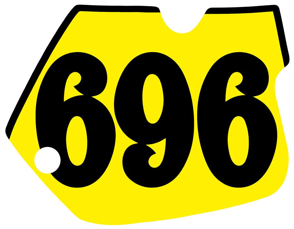 1984 1985 Suzuki RM125 RM250 Blank Number Plate Decals