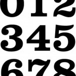 Vintage Style Race Numbers