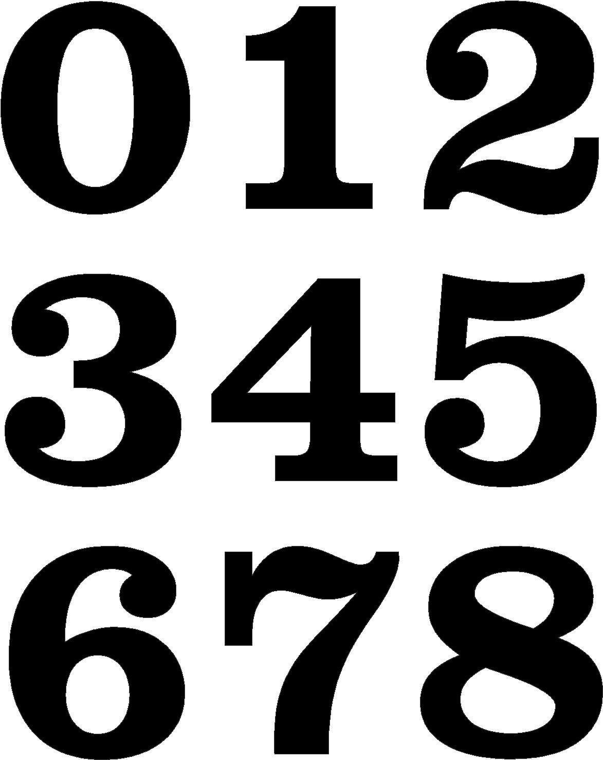Vintage racing number fonts images for Blueprint number