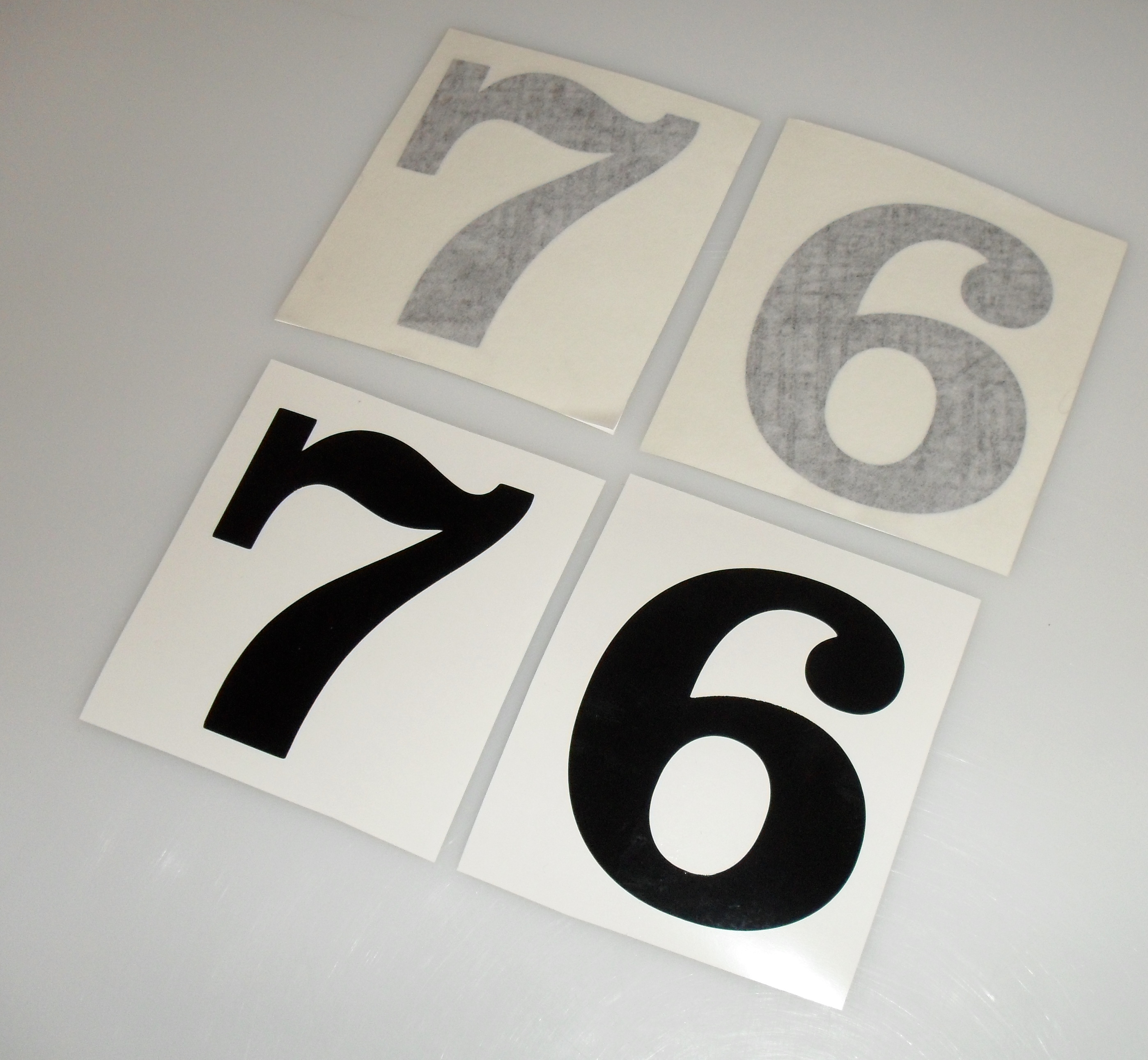Vintage motocross number plate graphics - Vintage Style Motocross Race Number Plate Decals Mx Bmx 1970s