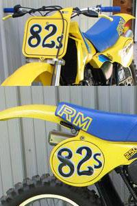 1982-1983 Suzuki RM Blank Number Plate Decals