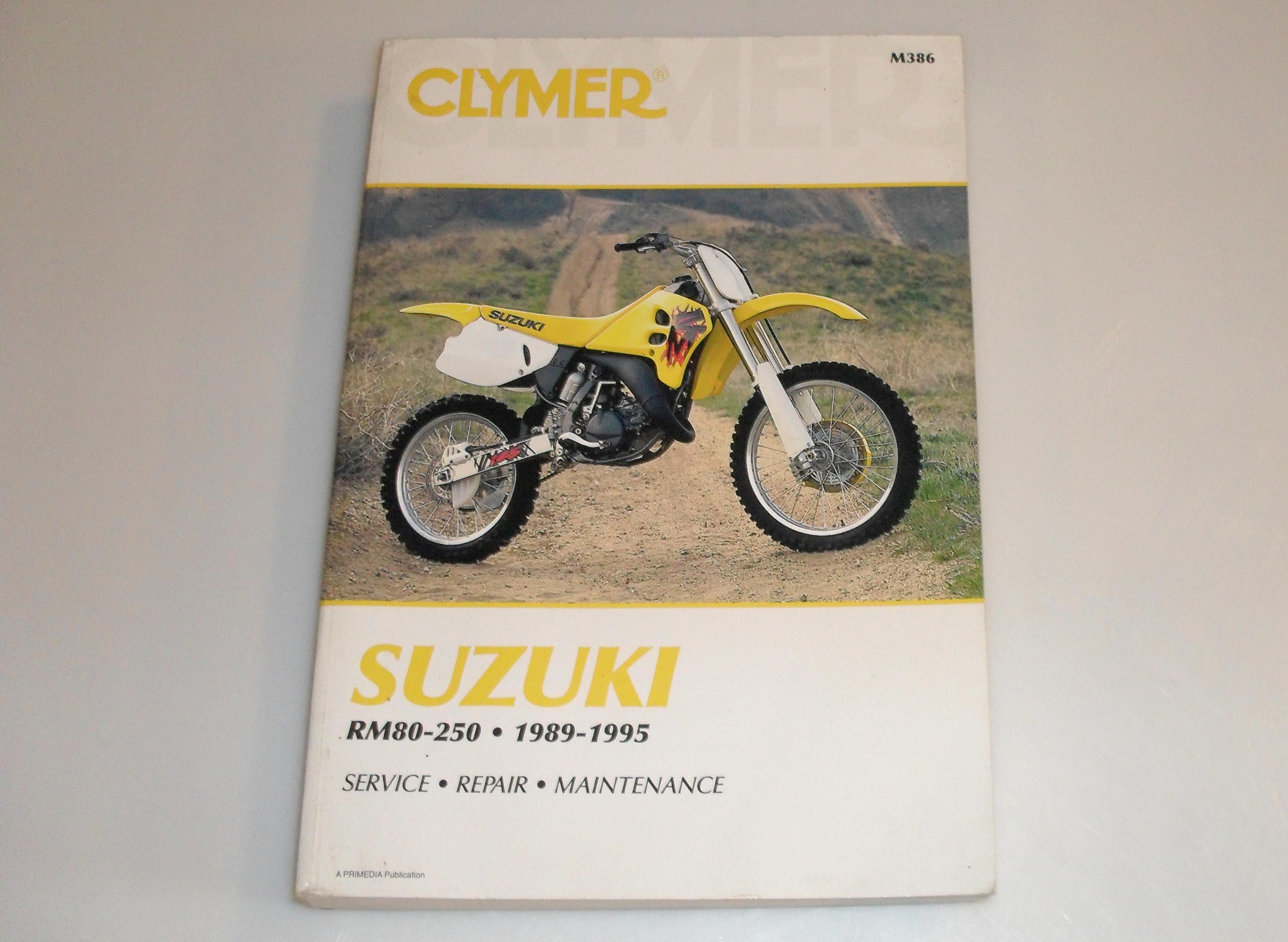 1989-1995 Suzuki Rm80 Rm125 Rm250 Clymer Service