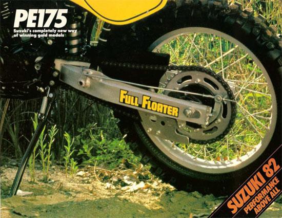 1982 Suzuki PE175 Sales Brochure