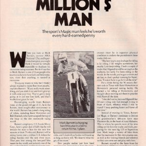 Mark Barnett – Supercross Action – June 1982