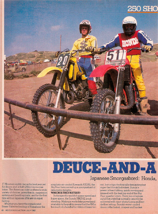 Motocross Action 250 shootout – July 1982