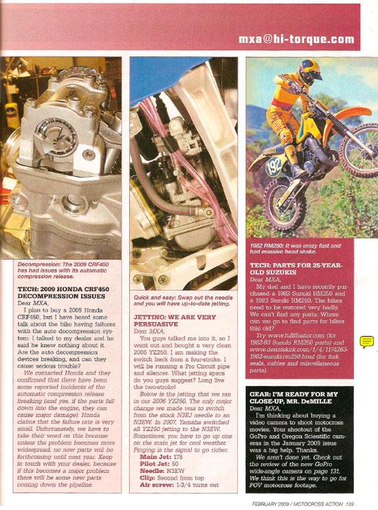 Motocross Action Magazine – FullFloater.com – Feb 2009