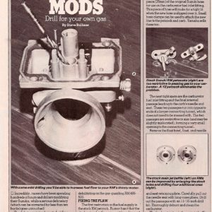 Motocross Action Magazine – RM Carb Mods – May 1983