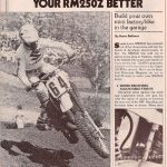 Motocross Magazine – Make Your RM Better – Sep 1982