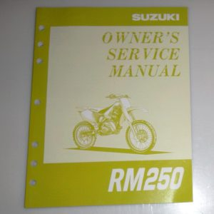 1995 Suzuki RM250 Owner's Service Manual