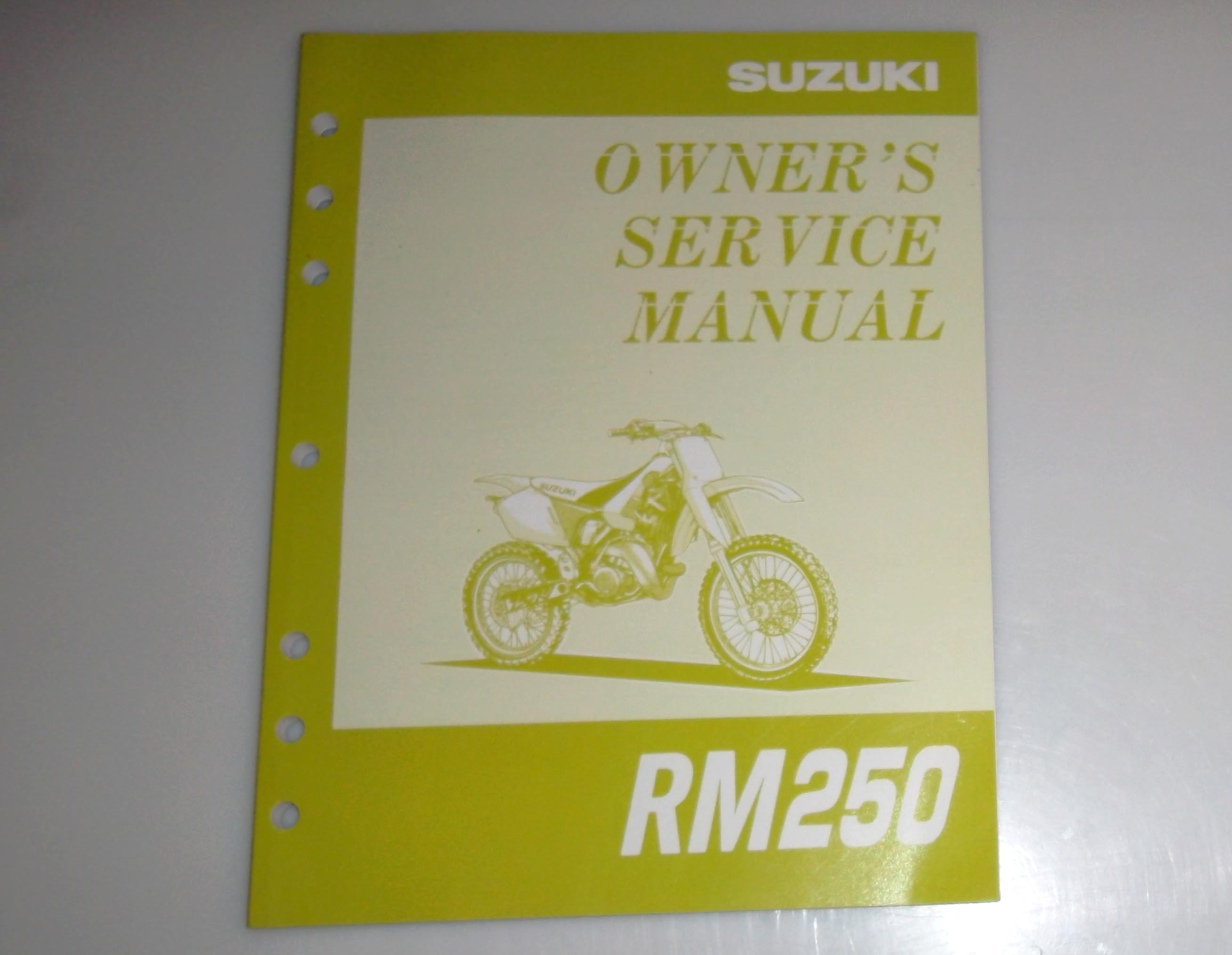 1995 suzuki rm250 owner s service manual rh fullfloater com suzuki rm 250 owners manual suzuki rmz 250 service manual 2008