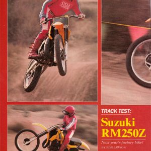 SUZUKI RM250Z Feb 1982 Cycle Guide Track Test