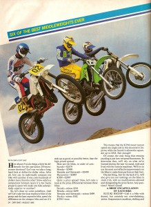 DIRT BIKE Magazine - 250cc Shootout - August 1985