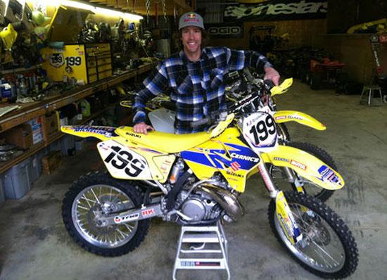 2002 Suzuki Rm250 Travis Pastrana Signed Bike Md