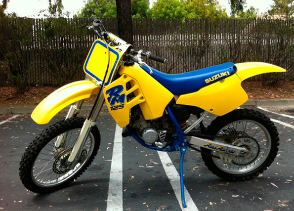 1990 suzuki rm125 ca full floater suzuki rm vintage motocross. Black Bedroom Furniture Sets. Home Design Ideas