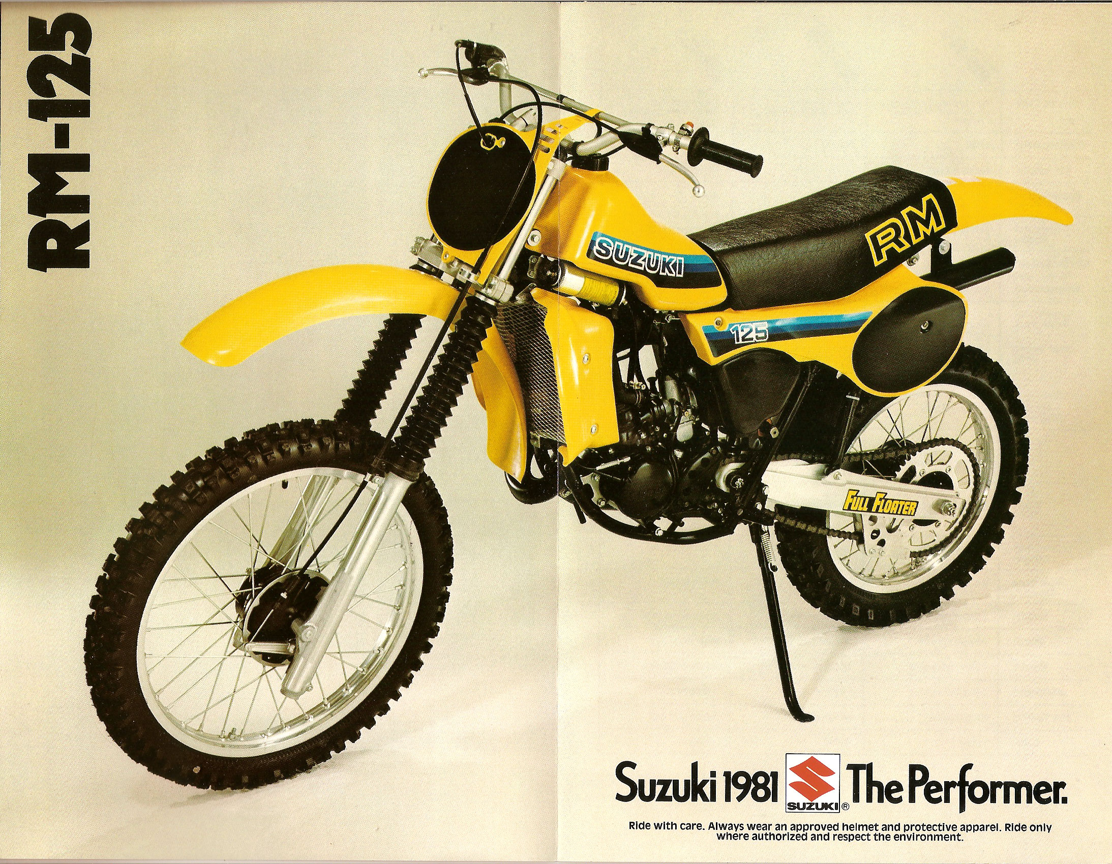 1981 suzuki rm 125 250 465 brochure full floater suzuki rm vintage motocross. Black Bedroom Furniture Sets. Home Design Ideas
